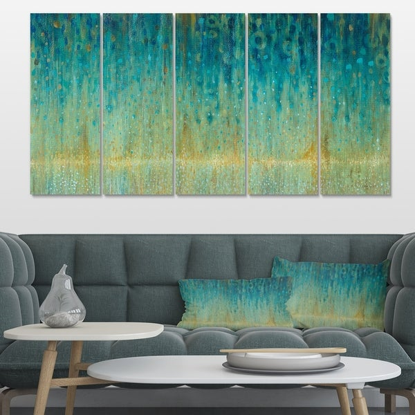 Designart 'Rain Abstract Panel' Modern & Contemporary Premium Canvas Wall Art
