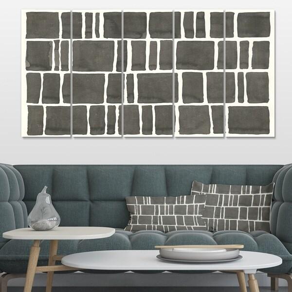 Designart 'Minimalist Graphics IV' Transitional Premium Canvas Wall Art