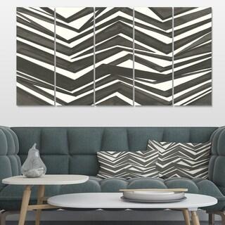 Designart 'Minimalist Graphics VI' Transitional Canvas Artwork