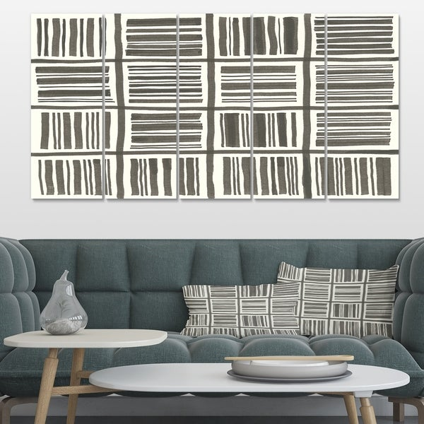 Designart 'Minimalist Graphics I' Transitional Canvas Artwork