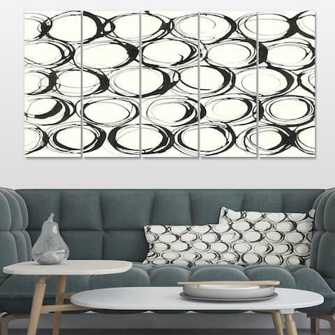 Designart 'minimalist black and white II' Transitional Canvas Artwork