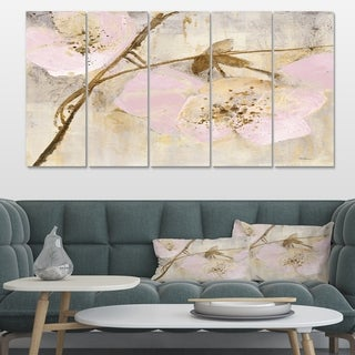 Designart 'Elegance II Pink' Shabby Chic Canvas Artwork