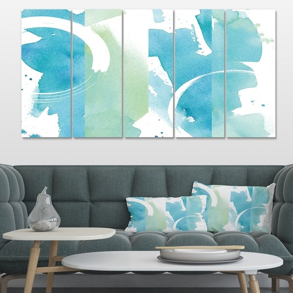 Designart 'Coastal watercolors I' Transitional Gallery-wrapped Canvas
