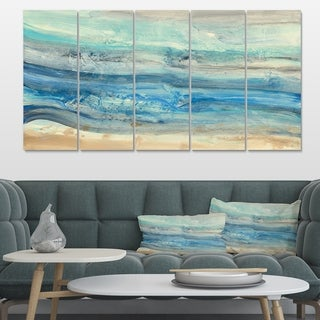 Designart 'Ocean Mineral Waves' Nautical & Coastal Canvas Art