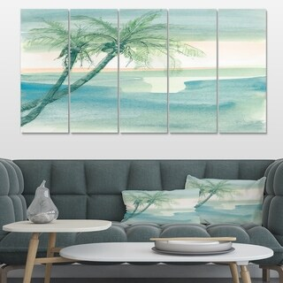 Designart 'Peaceful Dusk I Tropical' Tropical Canvas Artwork
