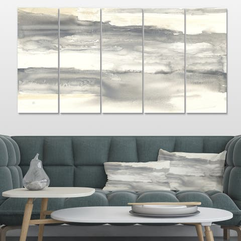 Designart 'Gold Glamour Direction I' Modern & Contemporary Gallery-wrapped Canvas