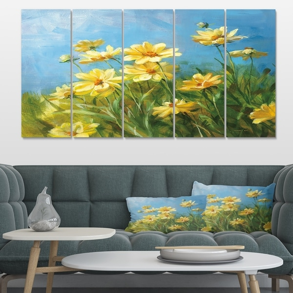 Designart 'Summer Field I' Traditional Gallery-wrapped Canvas