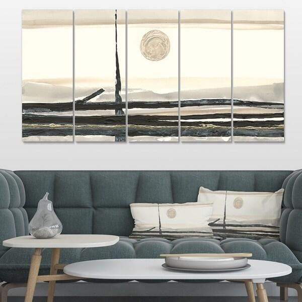 Designart 'Forest Silhouette I' Modern Farmhouse Canvas Art