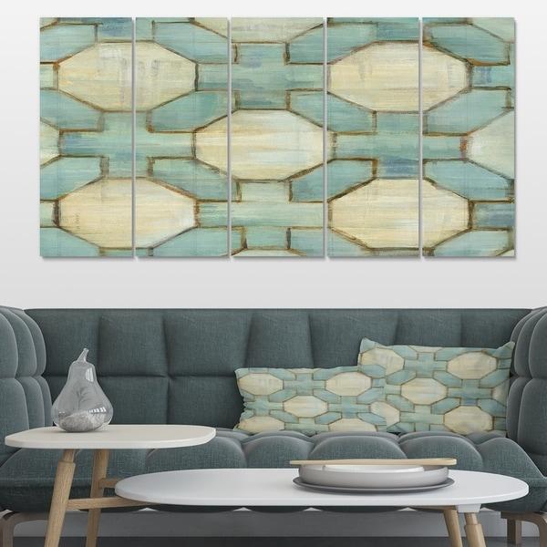 Designart 'Geometric Title Element' Modern & Contemporary Canvas Artwork