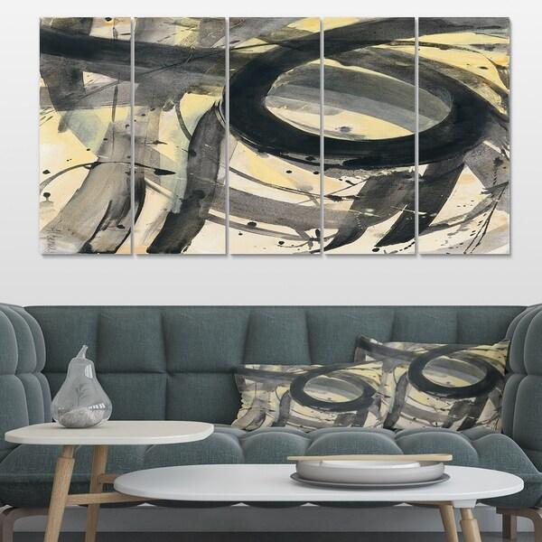 Designart 'Minimalistic Roller IV' Mid-Century Modern Premium Canvas Wall Art