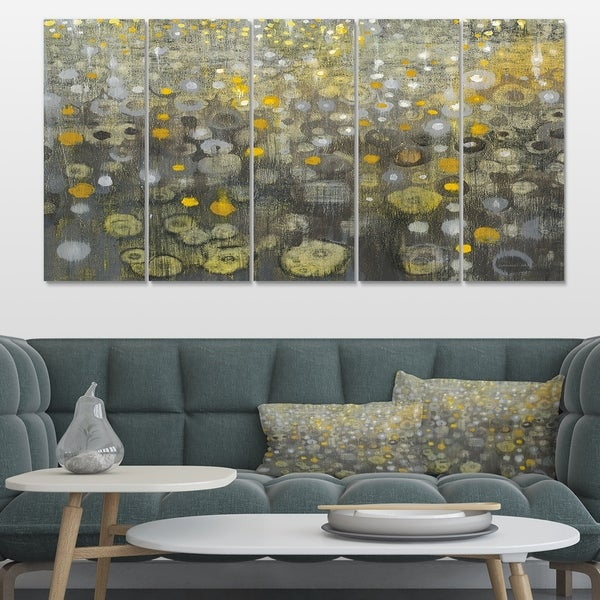 Designart 'Rain Abstract V' Modern Glam Canvas Art
