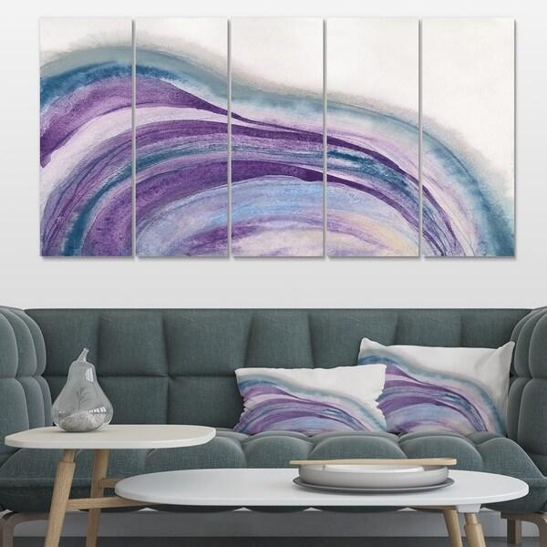 Designart 'Watercolor Geode II' Modern & Contemporary Premium Canvas Wall Art