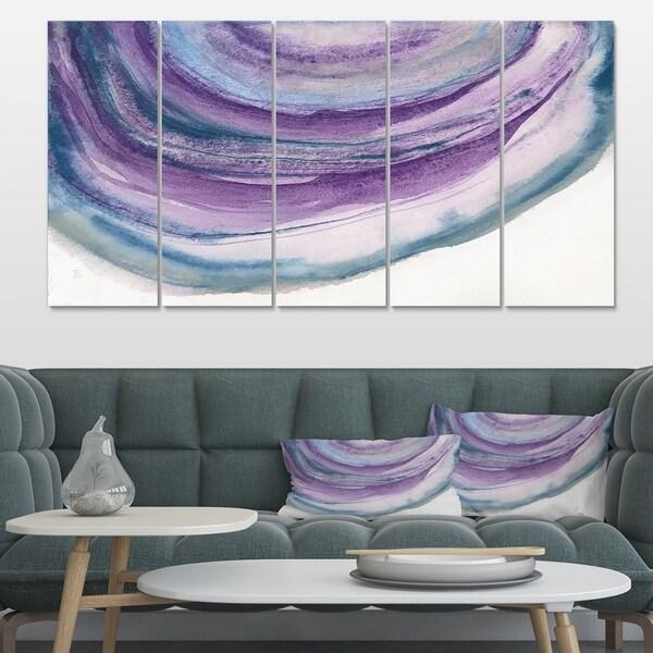 Designart 'Watercolor Geode I' Farmhouse Canvas Art