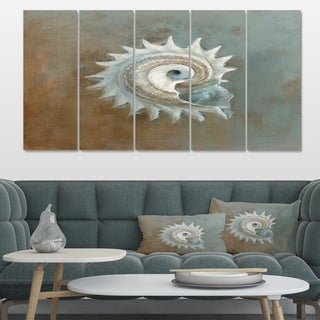Designart 'Seashell Treasures from the Sea III' Nautical & Coastal Canvas Artwork