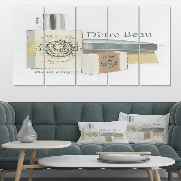 Designart 'Perfume Glam Bathroom IV' Traditional Bathroom Gallery-wrapped Canvas