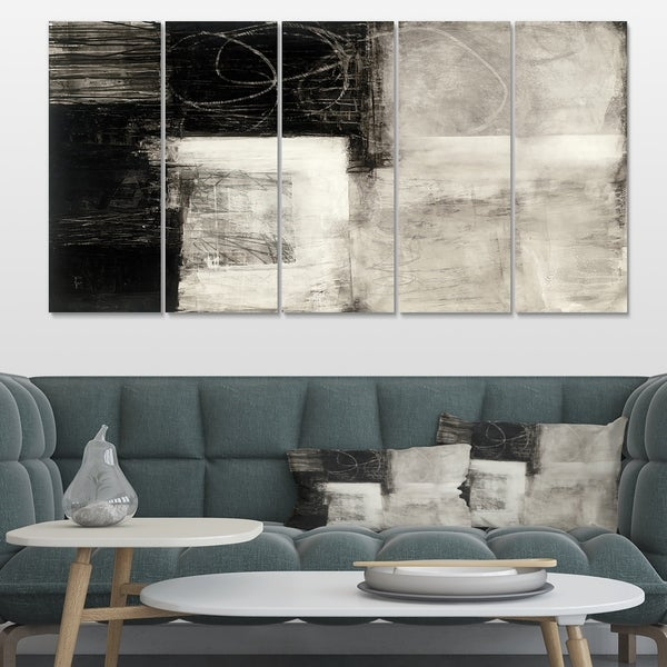 Designart 'A Geometric Day II' Mid-Century Modern Canvas Artwork