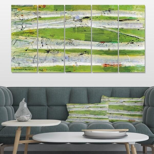 Designart 'Green Birch Forest' Traditional Canvas Artwork