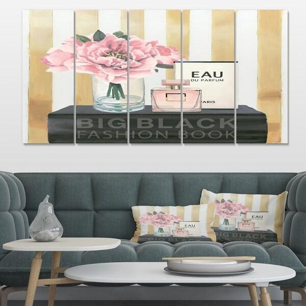 Designart 'Glam & Fashion Parfum Boudoir III' Posh & Luxe Gallery-wrapped Canvas