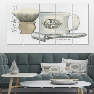 Designart 'Perfume Glam Bathroom III' Traditional Bathroom Premium Canvas Wall Art