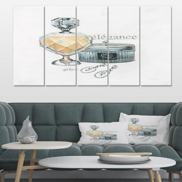 Designart 'Perfume Glam Bathroom II' Traditional Bathroom Canvas Art