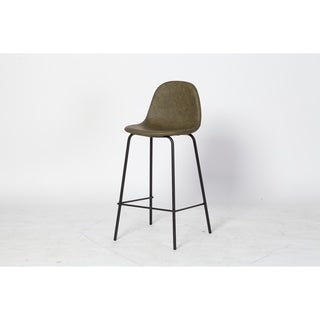 Link to Carbon Loft Esparza Counter Stool in Green Leather Similar Items in Dining Room & Bar Furniture