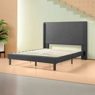 Copper Grove Dieren Upholstered Wingback Platform Bed