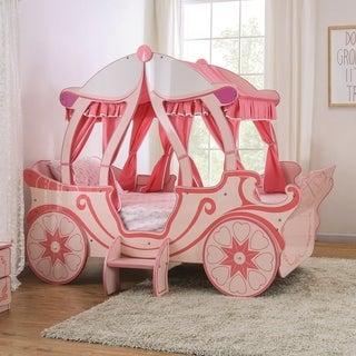 Taylor & Olive Rose Pink Pumpkin Carriage Bed