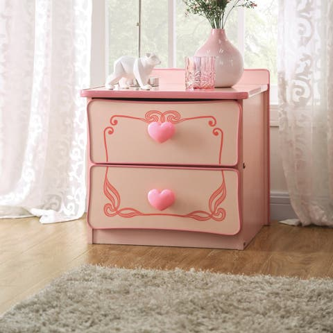 Copper Grove Telfs Pink 2-drawer Nightstand