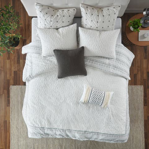 The Curated Nomad Natoma Valley Grey Reversible Cotton Duvet Cover Set