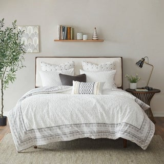 The Curated Nomad Natoma Valley Grey Reversible Cotton Comforter Set
