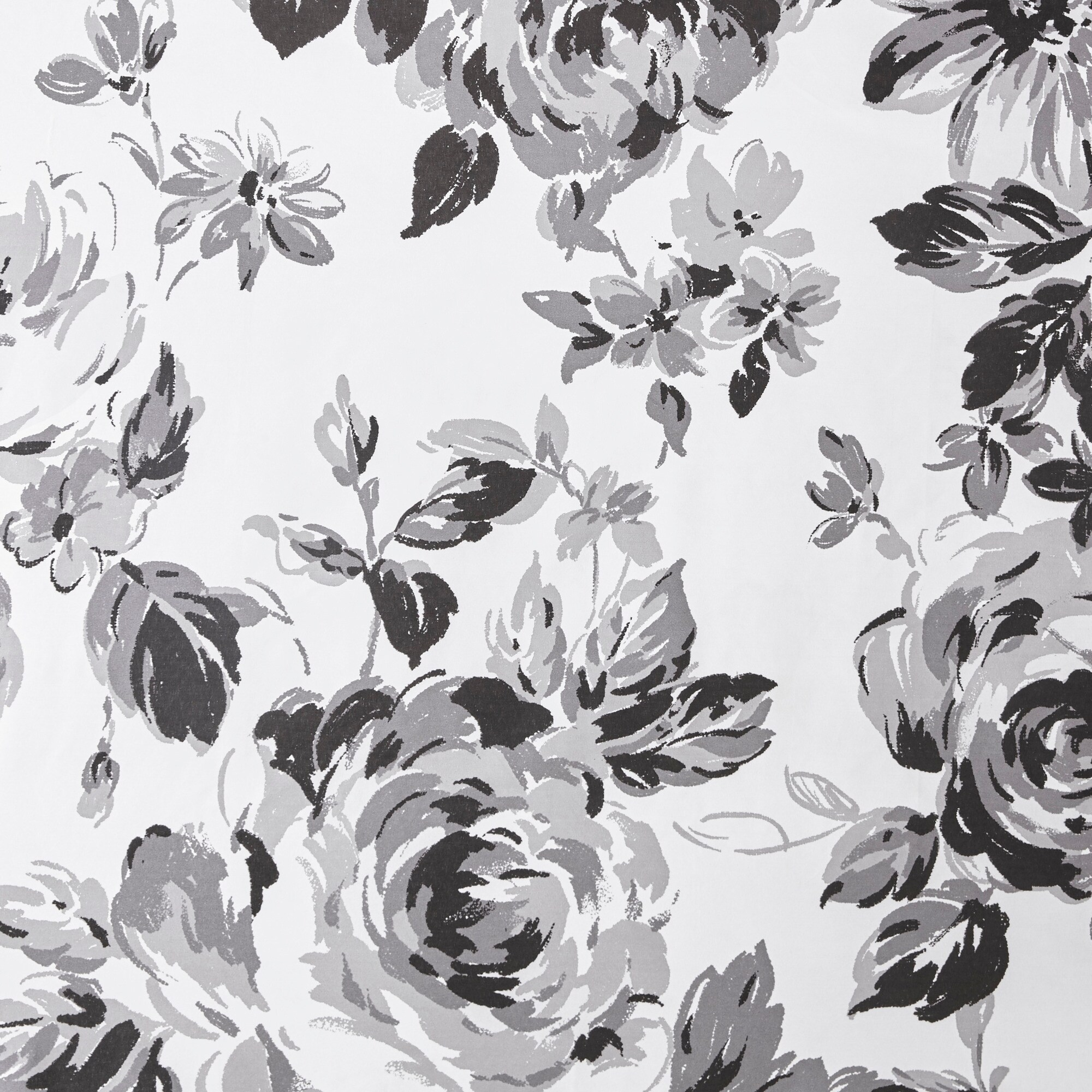 Shop Intelligent Design Renee Black White Floral Printed Shower