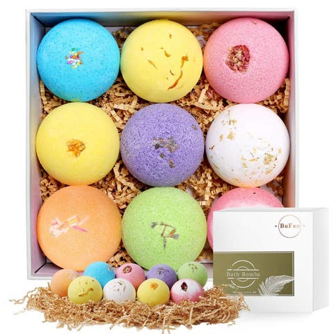 Natural Luxurious Spa With Relaxing Essential Oils Bath Bombs Gift Set - N/A