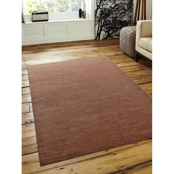 Indian Hand Knotted Gabbeh Carpet Oriental Modern Solid Color Area Rug