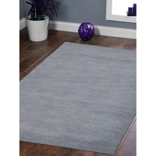 Solid Color Gabbeh Modern Carpet Hand Knotted Indian Oriental Area Rug