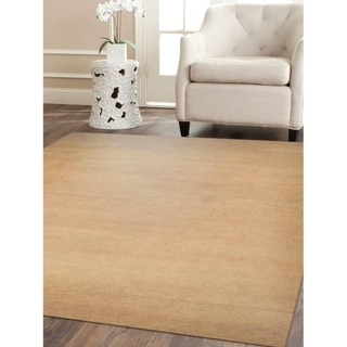 Modern Carpet Indian Oriental Solid Color Hand Knotted Gabbeh Area Rug
