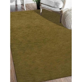 Hand Knotted Gabbeh Carpet Indian Solid Color Oriental Modern Area Rug