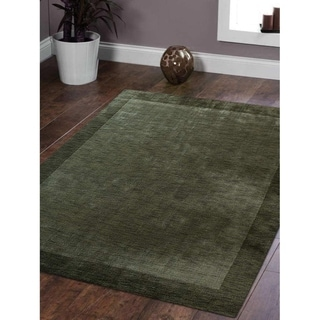 Hand Made Modern Solid Color Gabbeh Bordered Indian Oriental Area Rug
