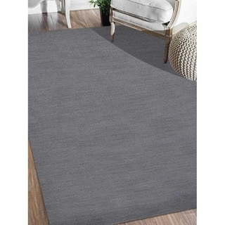 Indian Modern Hand Knotted Oriental Gabbeh Carpet Solid Color Area Rug