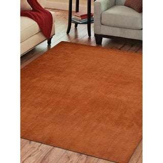 Modern Solid Color Carpet Indian Hand Knotted Oriental Gabbeh Area Rug