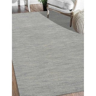 Modern Hand Knotted Gabbeh Solid Color Carpet Indian Oriental Area Rug