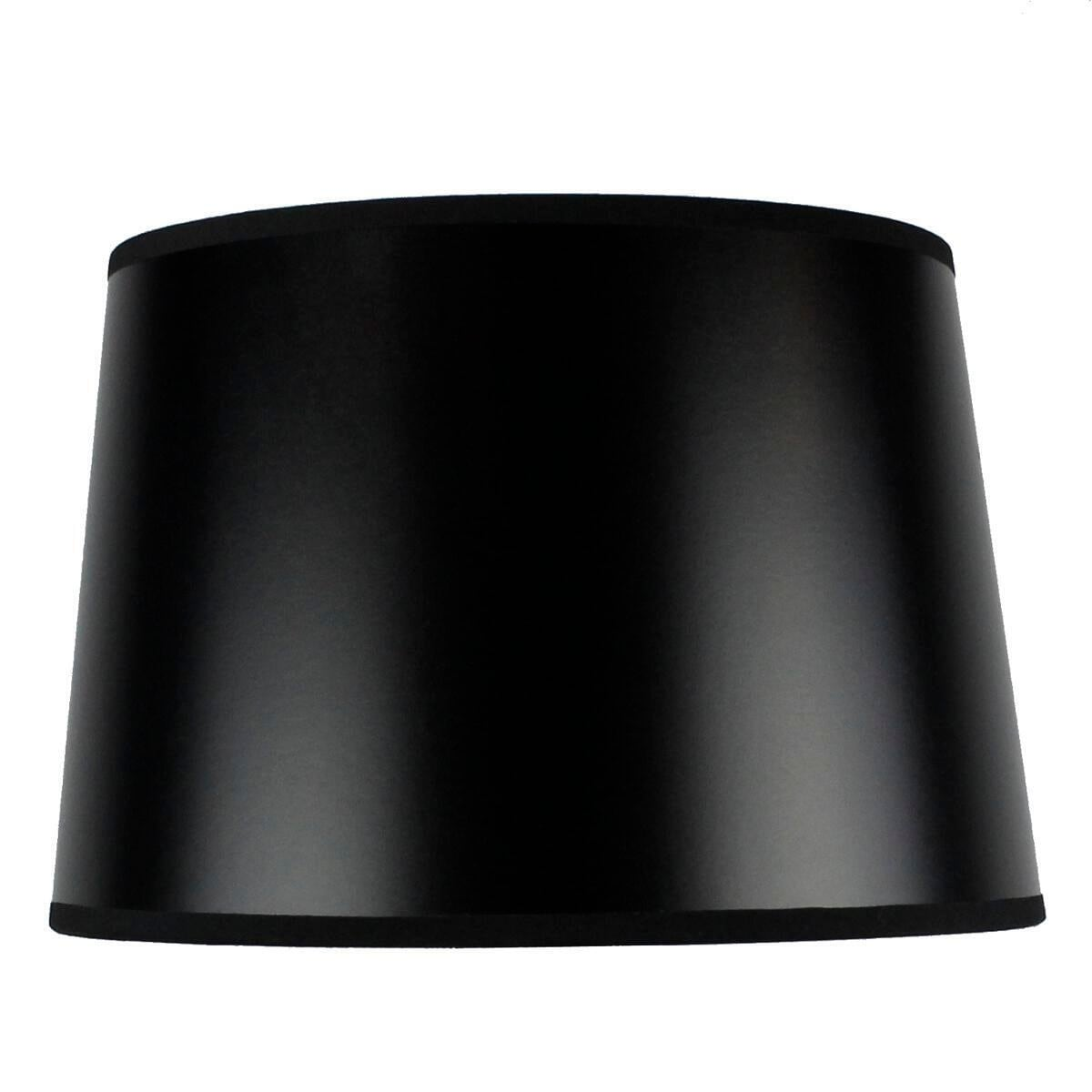 10x12x8 Slip Uno Fitter Hardback Shallow Drum Lamp Shade Black