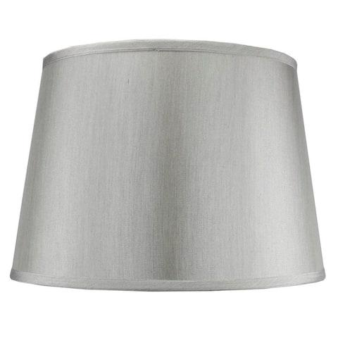 "13x16x11"" SLIP UNO FITTER Bavarian Gray Floor Lampshade, Silver liner"