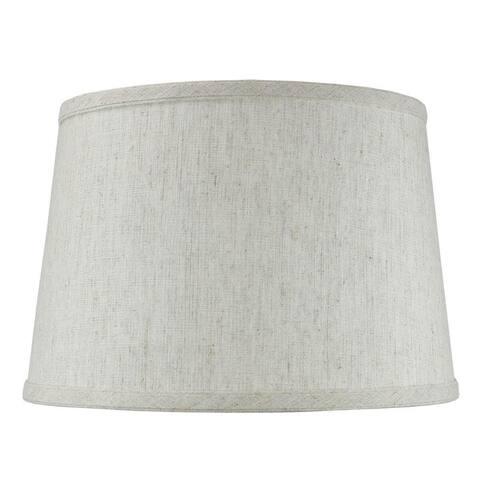 "10x12x8"" SLIP UNO FITTER Hardback Shallow Drum Lamp Shade Textured"