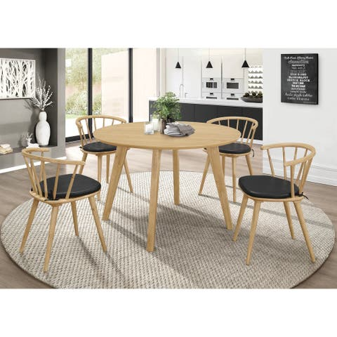 Merced Danish Natural Round Dining Table