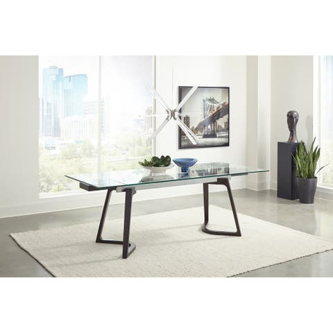 Annapolis Espresso and Clear Dining Table