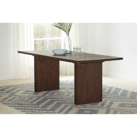 Magnolia Sand Blasted Whiskey Rectangular Dining Table