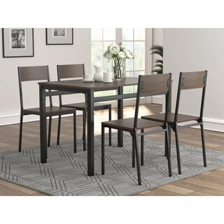 Dark Brown and Black 5-piece Dining Set