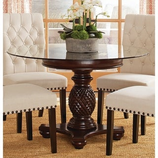 Anniston Espresso Pedestal Dining Table Base