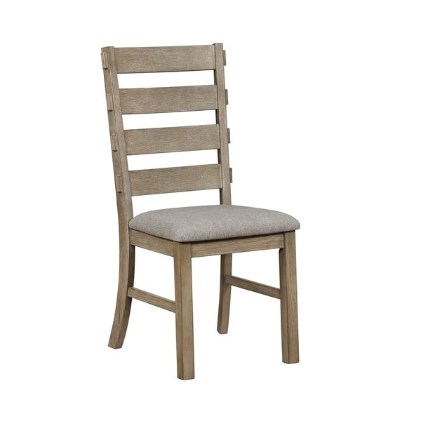 The Gray Barn Ivy Cottage Oatmeal and Oak Ladder Back Dining Chairs (Set of 2)