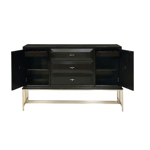 Benton Americano and Gold 3-drawer Dining Server